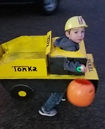 Tonka Truck Homemade Costume