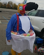 Toucan Sam and a Bowl of Fruit Loops Homemade Costume