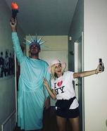 Tourist & Statue of Liberty Homemade Costume