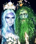 Toxic Mermaid and Poseidon Homemade Costume
