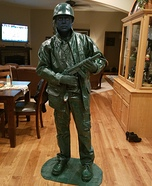 Toy Army Man Living Statue Homemade Costume