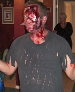 Scary Halloween costume ideas - Homemade Train Wreck costume