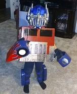 DIY Transformer Optimus Prime Costume