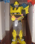 Homemade Bumblebee Transformer Costume