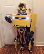 Transforming Bumblebee Transformer Homemade Costume