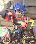Transforming Mini-Optimus Prime Homemade Costume