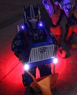 Transforming Optimus Homemade Costume