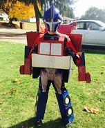 Transforming Optimus Prime Homemade Costume