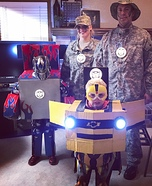 Transforming Optimus Prime and Bumble Bee Homemade Costume