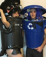 Trash Can & Recycle Can Homemade Costume