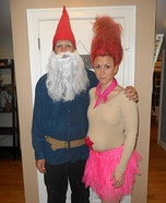 Couples Halloween costume idea: Treasure Troll and Garden Gnome