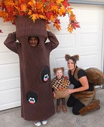 Tree, Acorn, and Squirrel Homemade Costume