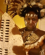 Tribal African Zulu Warrior Homemade Costume