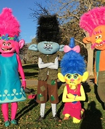 Trolls Family Homemade Costume