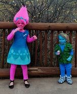 Trolls Kids Homemade Costume