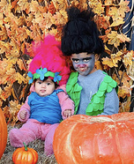 Trolls Poppy and Branch Homemade Costume