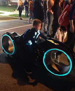 Tron Light Cycle Homemade Costume