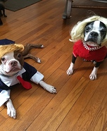 Trump and Hillary Dogs Homemade Costume