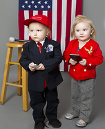 Trump and Hillary Twins Homemade Costume