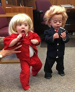 Trump vs Hillary Twin Babies Homemade Costume