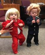 Trump vs Hillary Twin Babies Homemade Costume