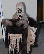 Tusken Raider riding a Bantha Homemade Costume