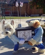 Creative costume ideas for dogs: TV Repairmen Dog Costume