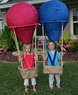 Twin Hot Air Balloons Homemade Costume
