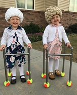 Twin Old Ladies Homemade Costume