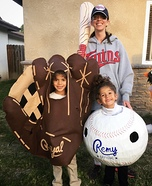 Twins Baseball & Glove Homemade Costume