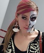 Two faced Skeleton Homemade Costume