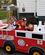 Two Firemen and their Dalmatian Homemade Costume