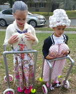 Two Litthe Ole Ladies Homemade Costume