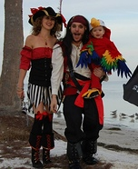 Two Pirates and a Parrot Family Costume