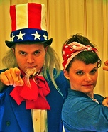 Uncle Sam and Rosie Homemade Costume
