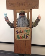 Uncle Si in a Kissing Booth Homemade Costume