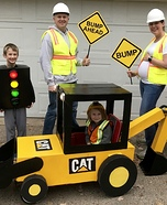 Under Construction Family Costume