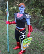 Underfell Undyne Homemade Costume