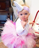 DIY baby costume ideas: Unicorn Baby Girl Costume