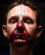 Zipper face costume ideas - Unzipped Halloween Costume