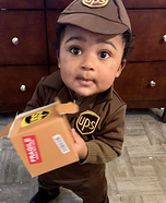UPS Baby delivering Kisses Homemade Costume