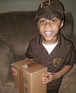UPS Lil Guy Homemade Costume