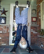 Upside Down Old Man Homemade Costume
