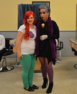 Ursula and Ariel Homemade Costumes
