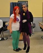 Ursula and Ariel Homemade Costumes