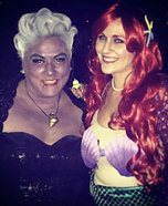 Ursula and Ariel Homemade Costume