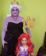 Ursula & Litttle Mermaid Homemade Costume