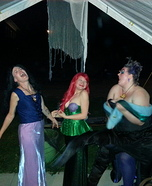Ursula, Vanessa and Ariel Homemade Costume