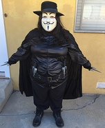 V for Vendetta Homemade Costume