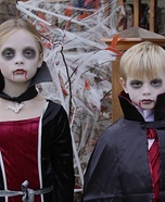 Vampire Siblings Homemade Costume